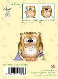 Clear Stamp Owl Tweetke LCR55.7636