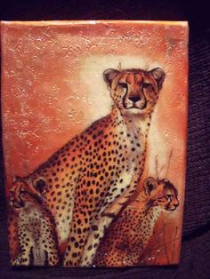 beeswaxpainting7 Africa by NatalieBramasole on Etsy, $25.00