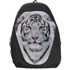 White Siberian Tiger Backpack Bag Gift for Kid / Adult School Camping Traveling