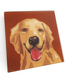 This Golden Retriever Coaster - Set of Four is perfect! #zulilyfinds