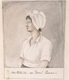 Portrait of a Mulatto Girl, undated, by Baroness Anne-Marguerite-Henriette Hyde de Neuville. Graphite, watercolor, and gray wash on paper.  NYHS Object Number 1953.279.