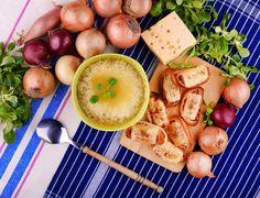 Vegetanie: Zupa cebulowa z grzankami z pampuchów