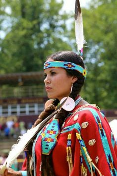 Pow wow at Cherokee Indian Reservation in North Carolina .