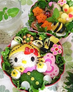 butterfly kitty bento