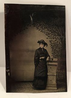 Antique Tinted Tintype Photo Portrait Beautiful Woman Vintage Photo | eBay