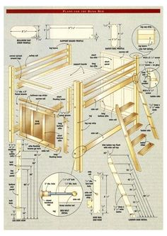 2x4 bunk bed plans Easy to build bed plans These bed plans require