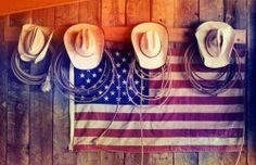 Hang this in the barn on horseshoe hooks. Kids will have their own hat and rope area by the tack room. Westerns, Everything Country, Country Strong, Cowboy And Cowgirl, Cowboy Hats, Old Glory, God Bless America, The Ranch, Country Girls