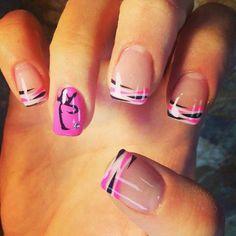 Pink and black Nails, Chinese symbol
