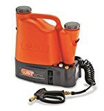 #ad Battery Operated Coil Washer, 1/5 HP.  ' Battery Operated Coil Washer, Portable, 1/5 HP, Operating Pressure 125 psi, 0.6 GPM, 12VDC, 40 Usable Hours per Week, Pump Drive Direct, Pump Type Diaphragm, Hose Dimensions 1/4 In. x 10 Ft, Length 18 In., Width 10 In., Height 19 In., Net Weight 23 lb., Water Input Temp. 120 Degrees F, Tank Reservoir Capacity 3-1/2 gal., Includes Nozzles, Battery '   Company:  SPEEDCLEAN  List Price:  $499.00  Amazon Price:  $595.00  https://www.amazo..
