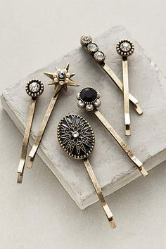 Adorable Nightingale Valley bobby pins available via Anthropologie