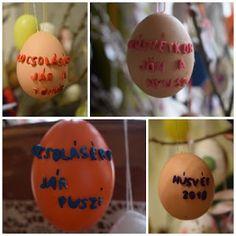 Süti és más...: Betűs tojás DIY Diy, Food, Bricolage, Essen, Do It Yourself, Meals, Homemade, Yemek, Diys