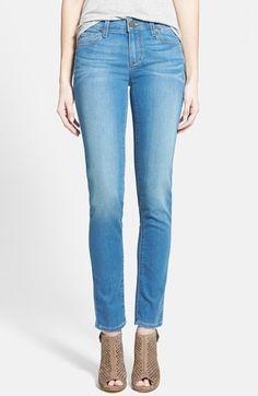 Paige Denim 'Skyline' Skinny Jeans (Halstead Blue) available at #Nordstrom