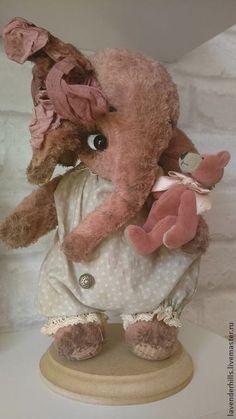 Купить Слоник Розетта - розовый, мишка-тедди, друзья тедди, друзья мишек тедди, слон