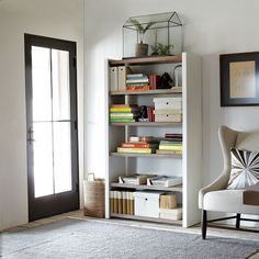 clean and calm, love this bookshelf.
