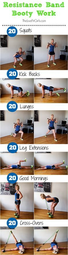 Resistance Band Booty Workout: try it out and enjoy it! If you like it, repin it :-) #FastSimpleFitness