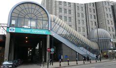DLR Tower Gateway station.