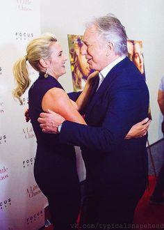 I ♥ Alan Rickman † — karthaeuser65:    Alan and Megan Dodds at the NY...