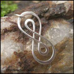 Double Infinity Symbol Charm  Sterling by ShiningLightJewelry, $10.00