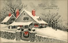 """House in the Snow"" - Published by The Gibson Art Company"
