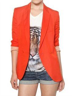 ShopStyle: Stella Mccartney - Dry Slub Viscose Twill Jacket
