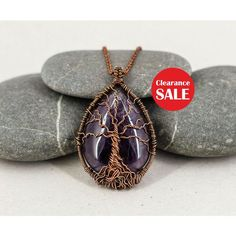 Tree-of-life necklace Amethyst necklace Boho necklace Anniversary... ($53) ❤ liked on Polyvore featuring men's fashion, men's jewelry, men's necklaces, mens long necklaces, mens necklaces, mens pendants, mens watches jewelry and mens pendant necklace
