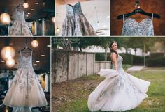 Cinderella inspired gown for a Disney wedding in St. Petersburg, FL at NOVA535! Purchased at Kleinfeld Bridal in New York.