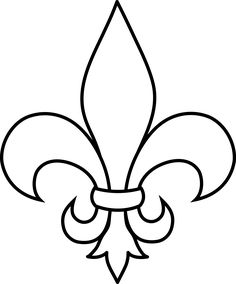 frrench free clip art | Black and White Fleur De Lis Outline - Free Clip Art