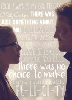 Oliver quotes to/about Felicity #Arrow #Olicity