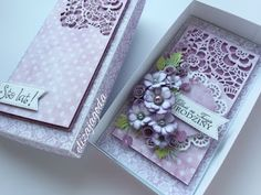 CraftsArt: Urodzinowe fiolety 3d Cards, Your Cards, Tim Holtz Dies, Shabby Chic Birthday, Gift Card Boxes, Flower Fashion, Flower Making, Vintage Cards, Wedding Cards