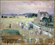 Berthe Morisot:  Hanging the Laundry out to Dry (1875)