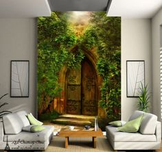 Mysterious-Door-Wall-Paper-Wall-Print-Decal-Wall-Deco-Indoor-wall-Mural-Home