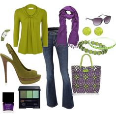 Perfect for Mardi Gras...love the green/purple combo