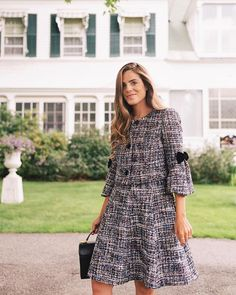 The second half of the October 2018 Gal Meets Glam collection is here! Shop the post for my favorite tweed sets of the season! Winter Dress Outfits, Chic Outfits, October Fashion, Lawyer Fashion, Gal Meets Glam, Tweed Dress, Everyday Dresses, Chanel, Lovely Dresses