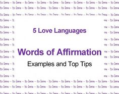 Unique examples and advice for those who cannot think of anything great to say about their partner! Find ways to convey words of affirmation, accept gracefully and why.