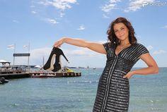 Exclusif - La chanteuse Priscilla (Betti) devant l'hôtel Majestic Barrière à l'occasion du 67e festival du film de Cannes le 15 mai 2014