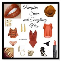 """""""Pumpkin Spice"""" by boudoir702 on Polyvore featuring Paula Dorf, Fred Perry, Michael Antonio, Chantelle, Eres, Nine West, Étoile Isabel Marant, Bony Levy, Panacea and photography"""