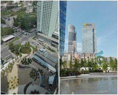 Plac Europejski z 30 piętra Warsaw Spire – okiem SkyConcept.