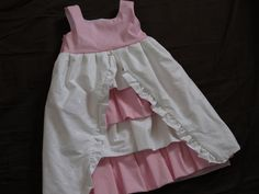 Pink and White Ruffled Flower Girl Dress - Ready to Ship. $75.00, via Etsy.