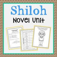 Shiloh Novel Study Unit Activities In 2 Formats