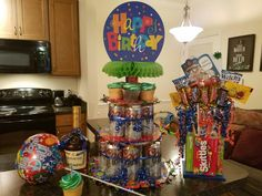 Birthday Surprise #BeerCake #Cupcakes #Candy #Hennessy
