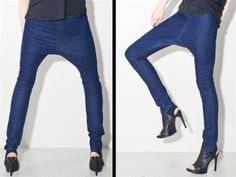 Women's drop crotch jeans. Hot or horrible? Tell us in the comments.