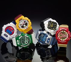 "Casio G-Shock ""Crazy Colors"" Pack (Summer 2014)"