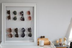 frame & wire, sunglasses holder! I need this for my collection of sunglasses.