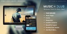 Buy Music Club - Music/Band/Club/Party Wordpress Theme by GoodLayers on ThemeForest. Music Club is the best Wordpress theme for music, club, party, radio station, bands or even entertainment magazin. Template Wordpress, Tema Wordpress, Best Wordpress Themes, Wordpress Free, Desenvolvedor Web, Dance Charts, Music Albums, Music Music, Club Parties