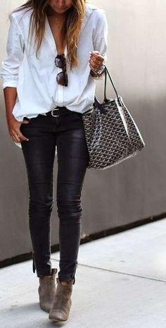 Abbinare le scarpe ai pantaloni di pelle (Foto) | Shoes