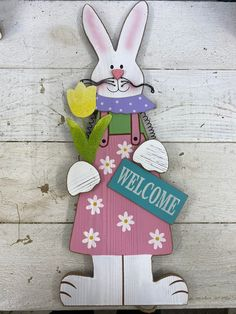"This Female Wood Easter Bunny Figurine is 24"" long x 7"" wide - DIY Easter Home Decor. Easter Decor. Spring Decorations, Easter Decor, Easter Bunny, Diy Home Decor, Diy Crafts, Christmas Ornaments, Female, Holiday Decor, Wood"