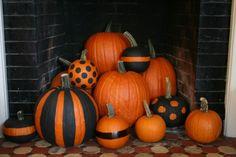black accent pumpkins