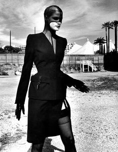Thierry Mugler 1998 editorial shot by Helmut Newton