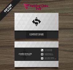 Beyaz ve siyah kartvizit Ücretsiz Vektör - Vektörel Çizim indir,Vektörel İndir,Cdr,Corel Draw indir,Vektör indir