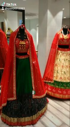 Get an access to Asopalav exclusive in-store designer collection through live video shopping. Shop bridal wear online through video call over Duo/Whatsapp/ Skype/ Facetime. Lengha Blouse Designs, Lehenga Saree Design, Half Saree Lehenga, Half Saree Designs, Choli Designs, Fancy Blouse Designs, Designs For Dresses, Anarkali, Wedding Lehenga Designs